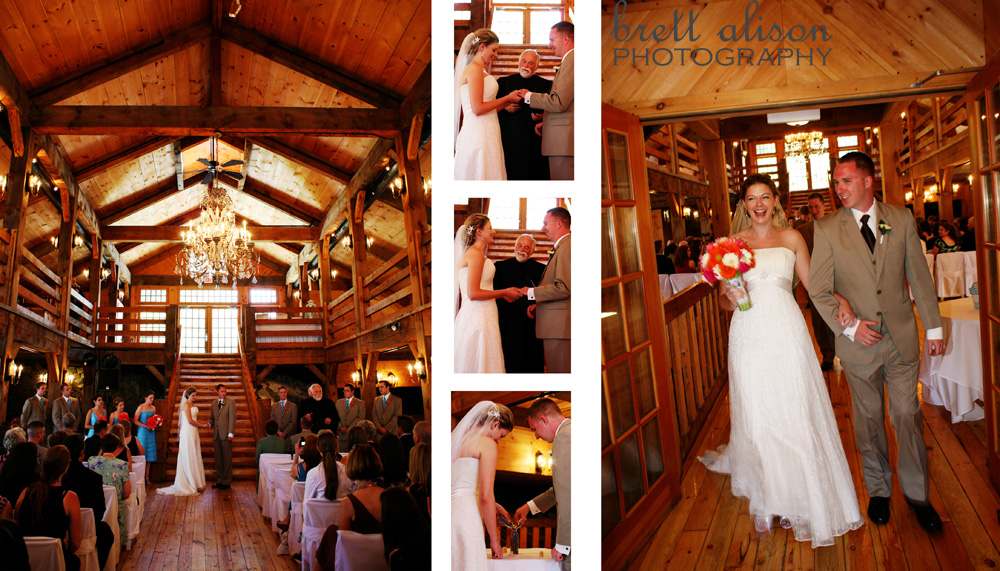 wedding ceremony at the red lion inn