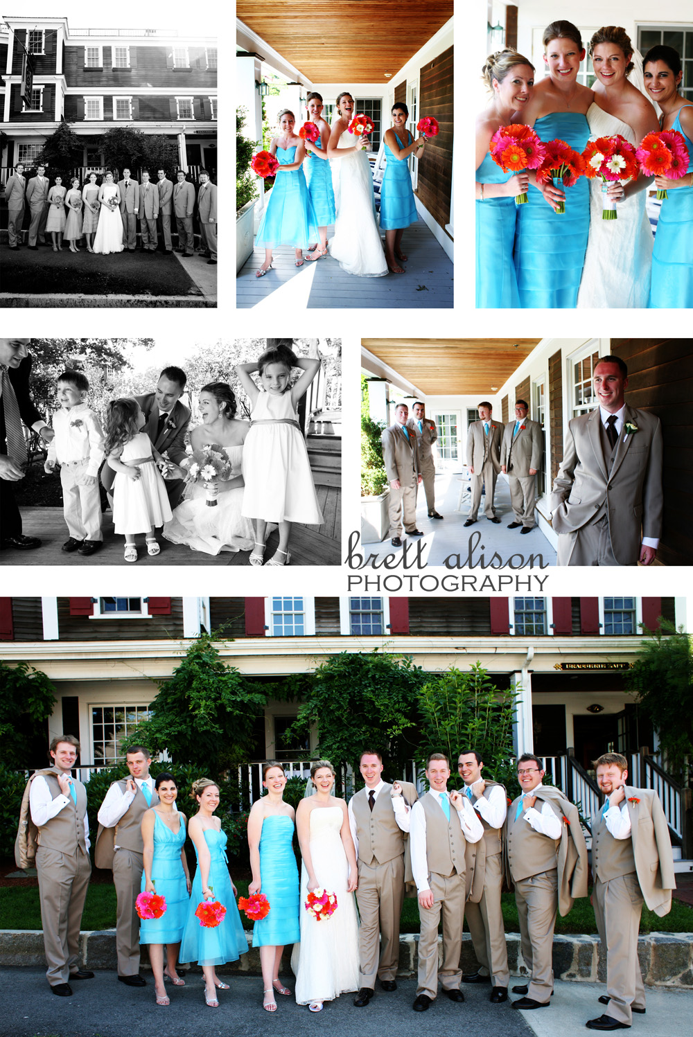 wedding party red lion inn in cohasset