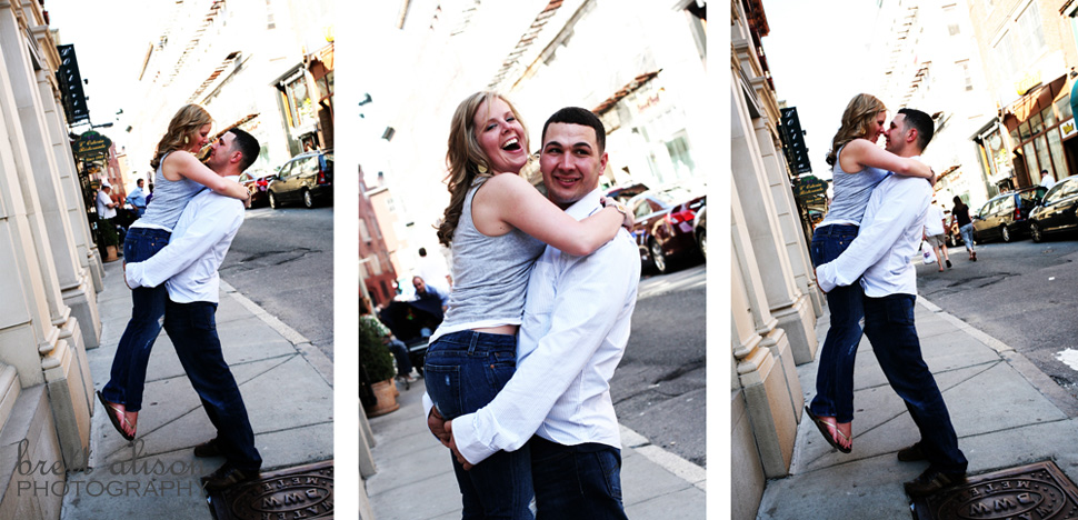 engagement photos in the north end boston