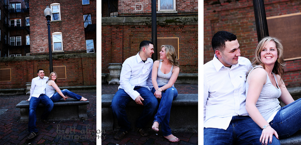north end boston engagement wedding photos