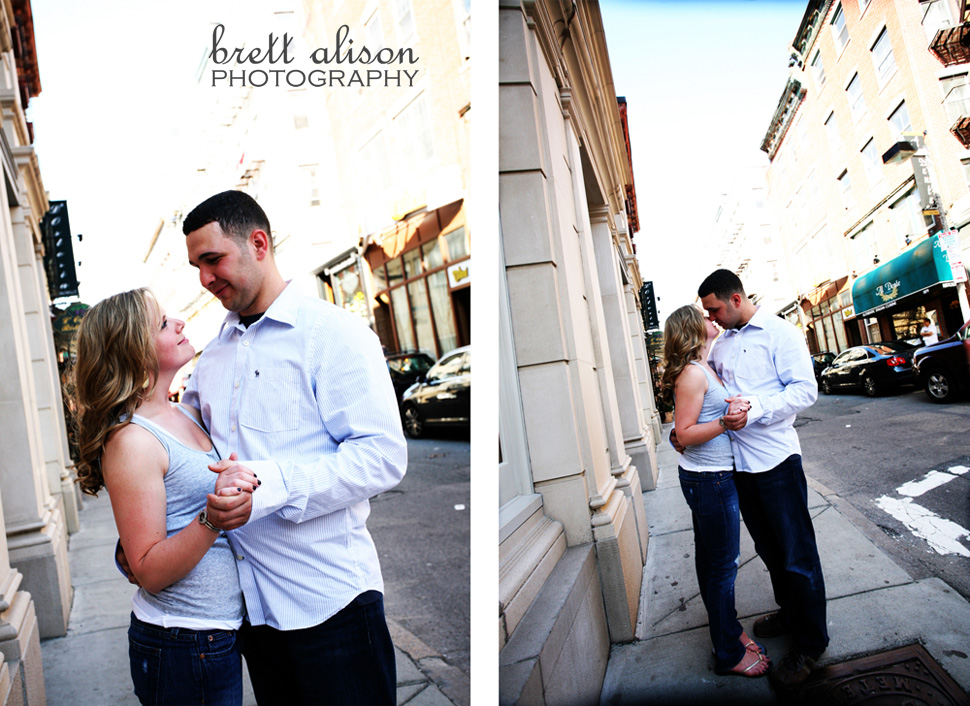 north end engagement session