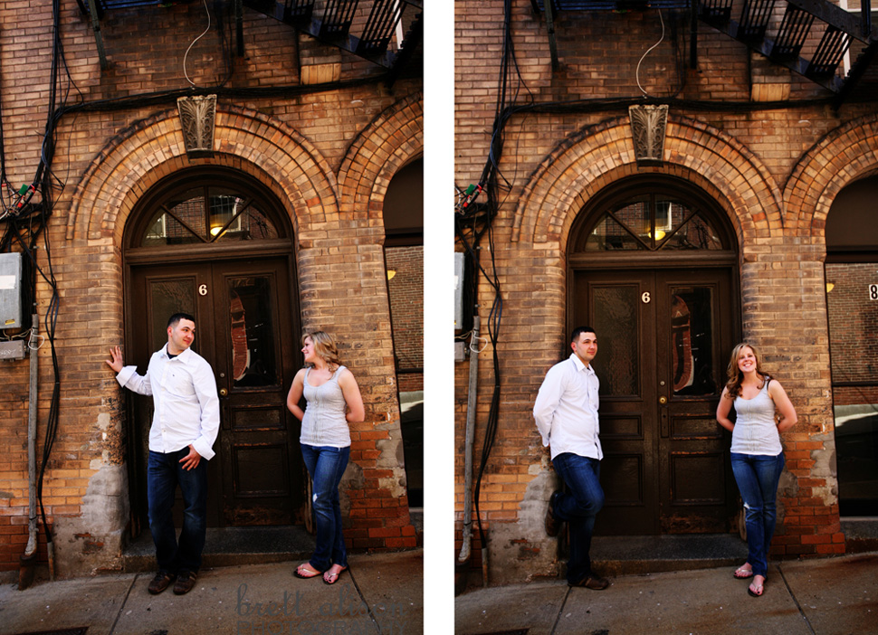 engaged couple in the north end boston