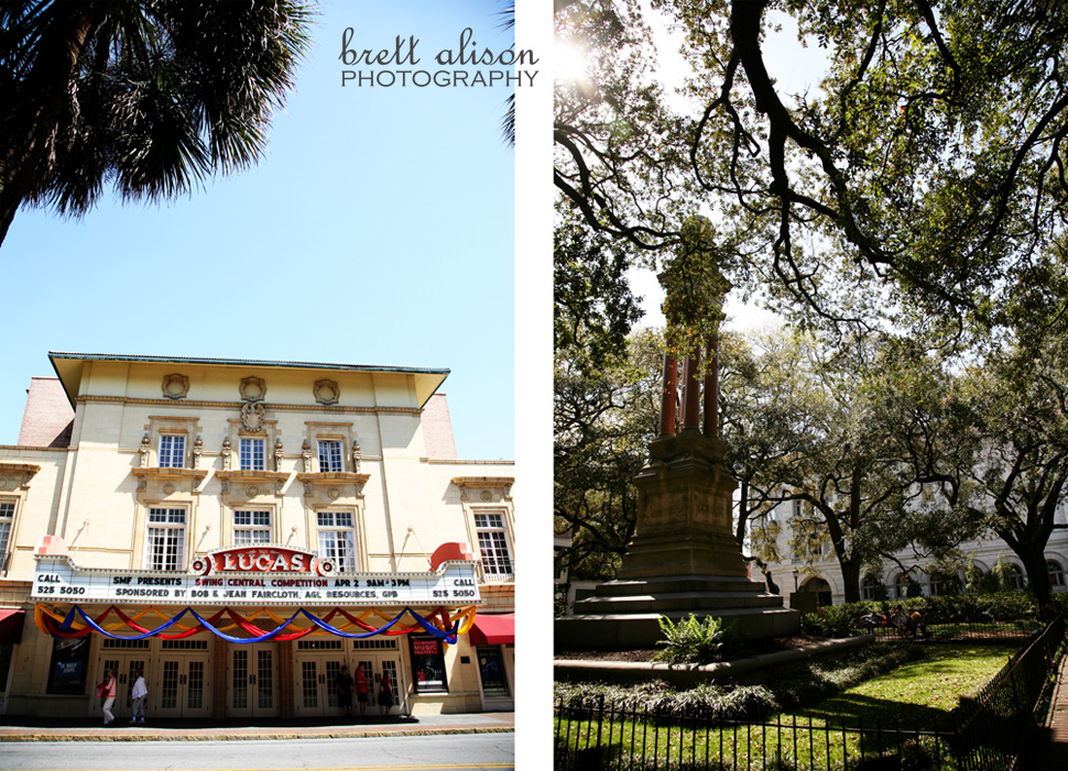 historic theater and square in savannah