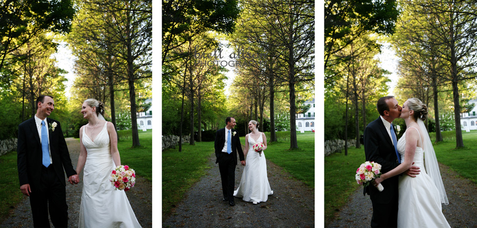 tree-lined lane at glen magna wedding