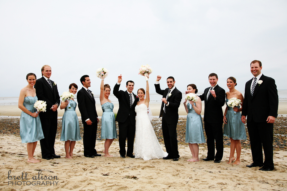 beach wedding photos cape cod