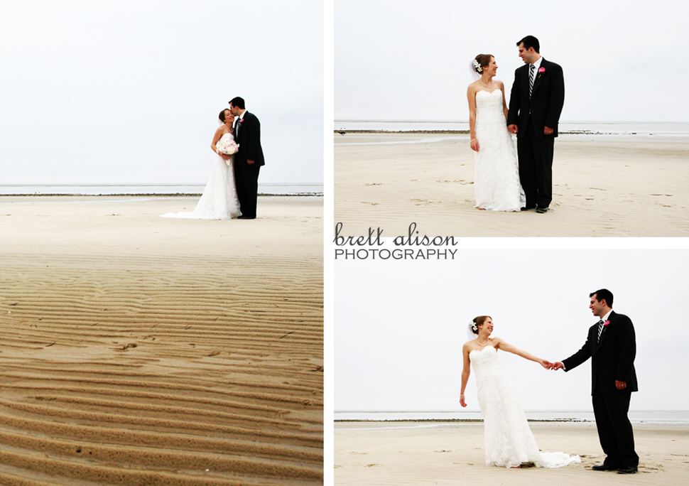 wedding photos on ocean edge cape cod