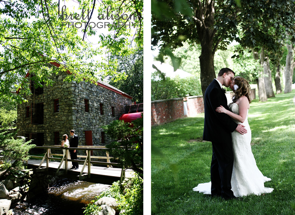 wayside inn sudbury wedding photos grist mill