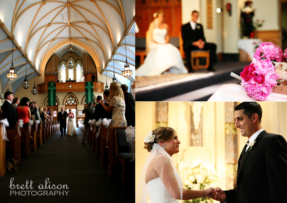 wedding ceremony at st. augustine's andover
