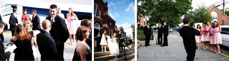 outside st. augustine's andover wedding