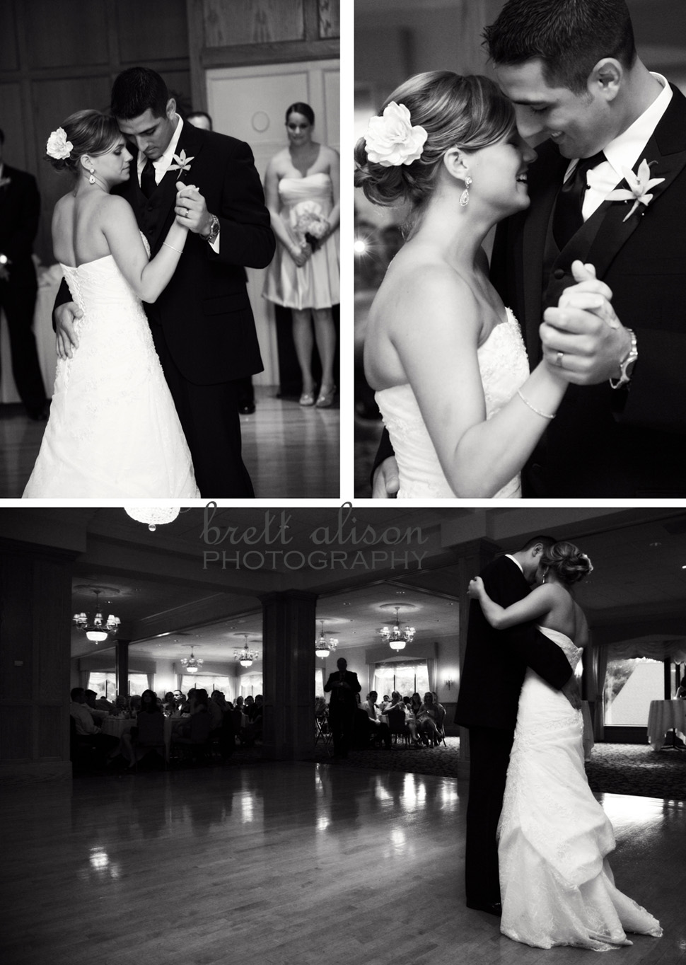 sarah and ryan's first dance at their wedding reception