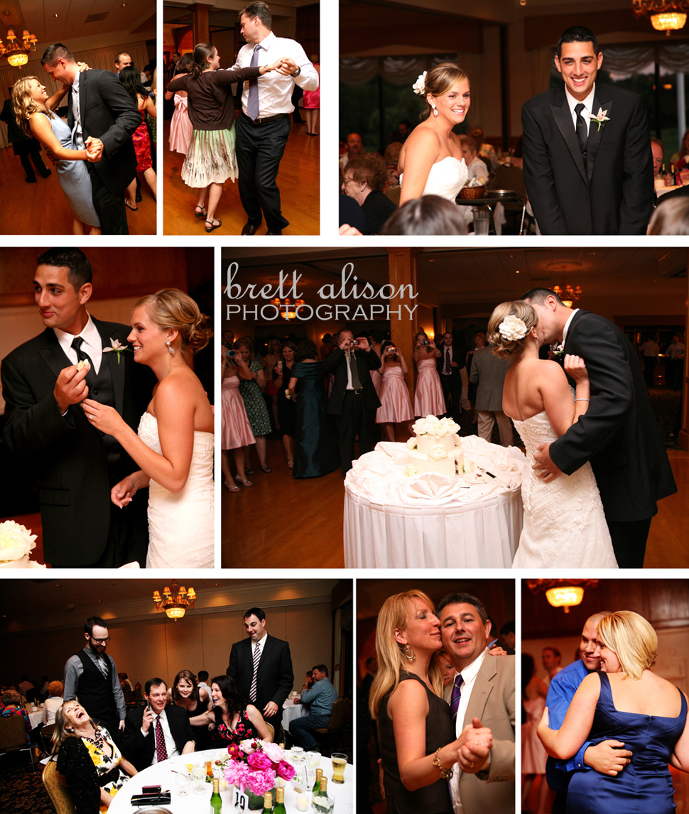 photos during wedding reception at andover country club massachusetts