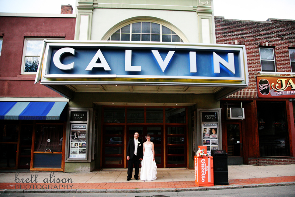 wedding photos northampton calvin theater
