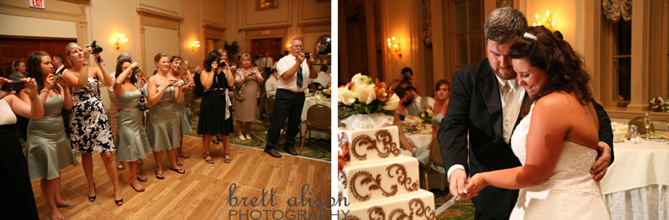 cake cutting salem massachusetts wedding reception