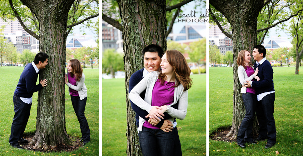 fall boston engagement pictures