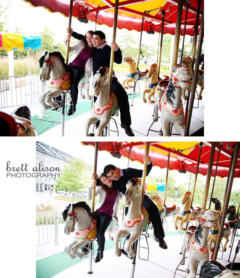 carousel engagement photos boston