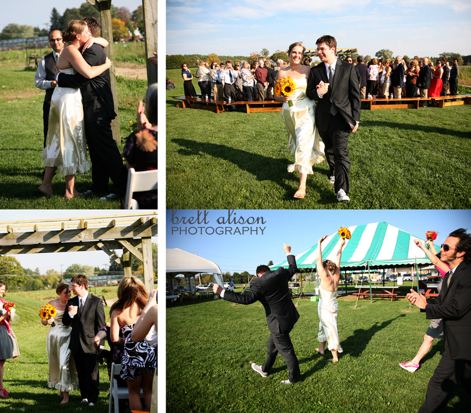 wedding ceremony at verrill farm