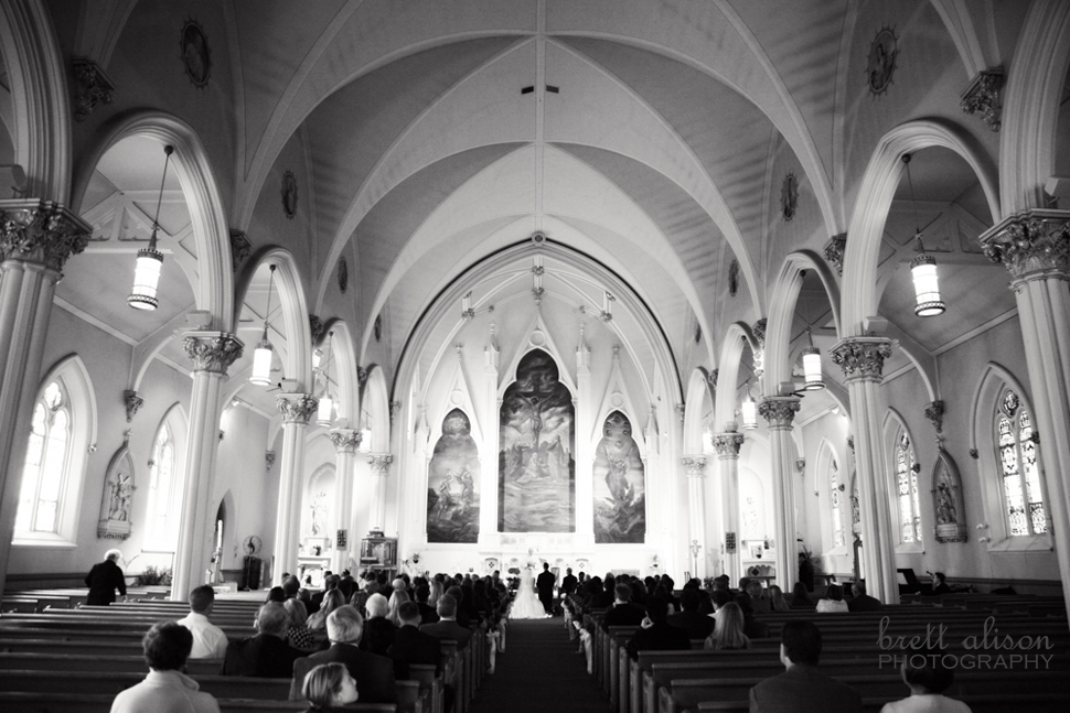 peabody church wedding b&w