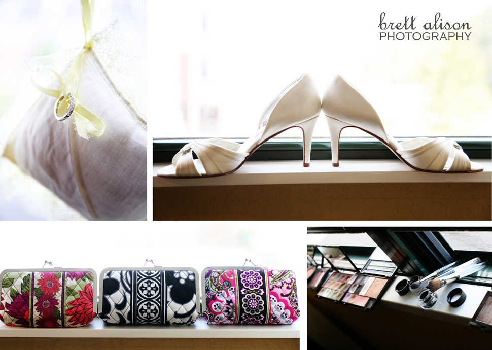 bridesmaids gifts, shoes, ring pillow