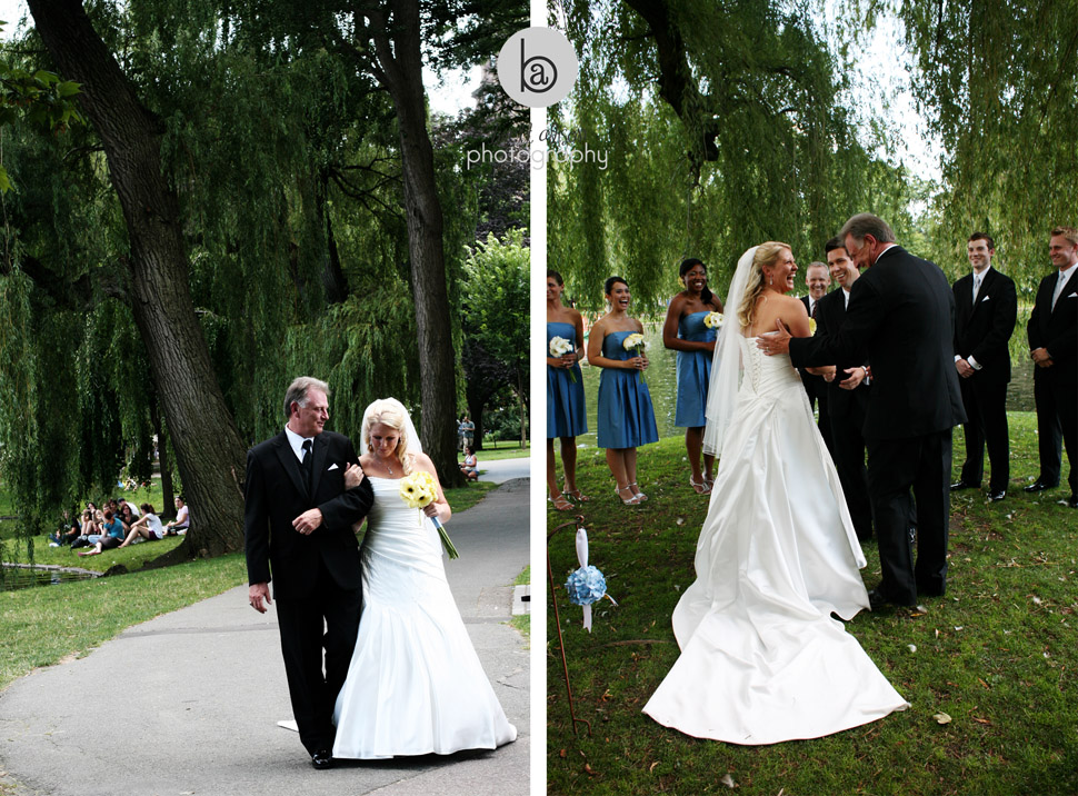 wedding at public garden boston
