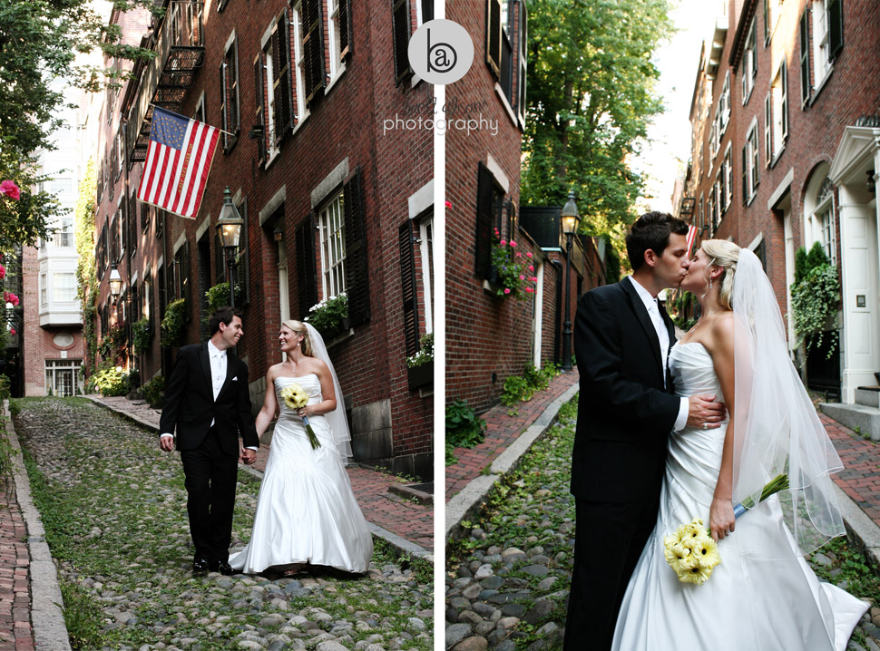 acorn street boston wedding photos
