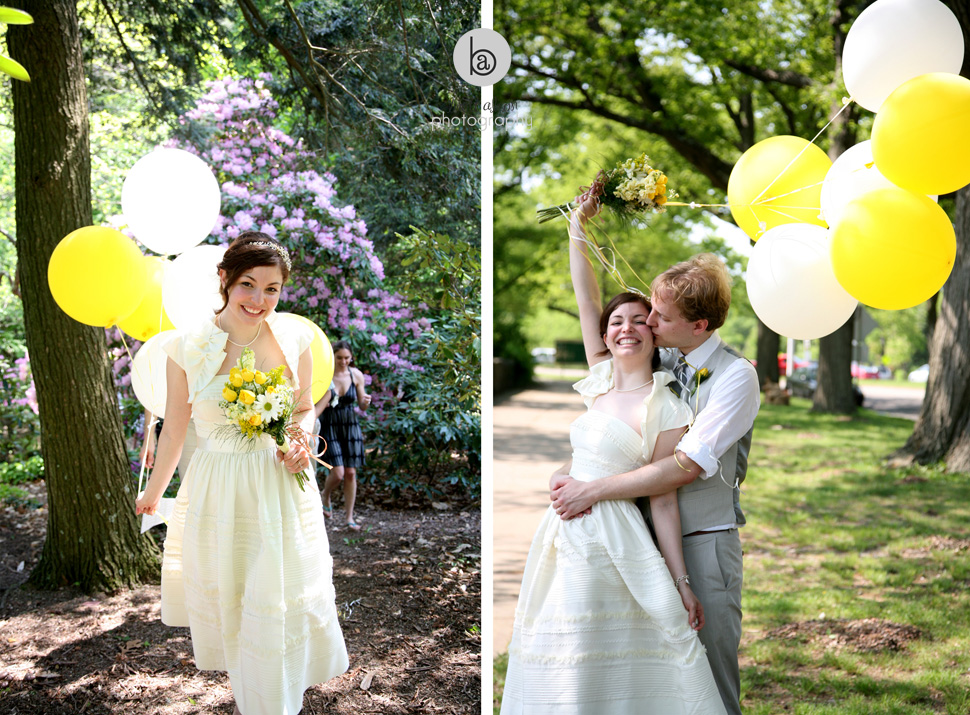 fun balloons offbeat wedding photos boston