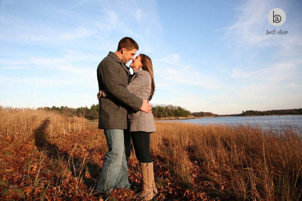deer island boston engagement photos