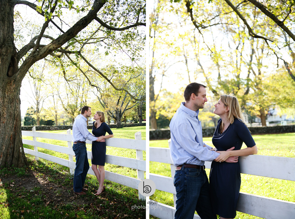 boston engagement session autumn