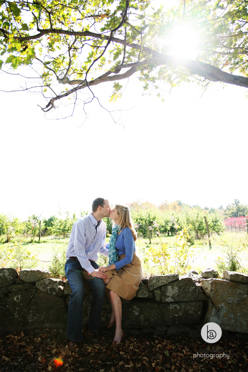 fall engagement session new england