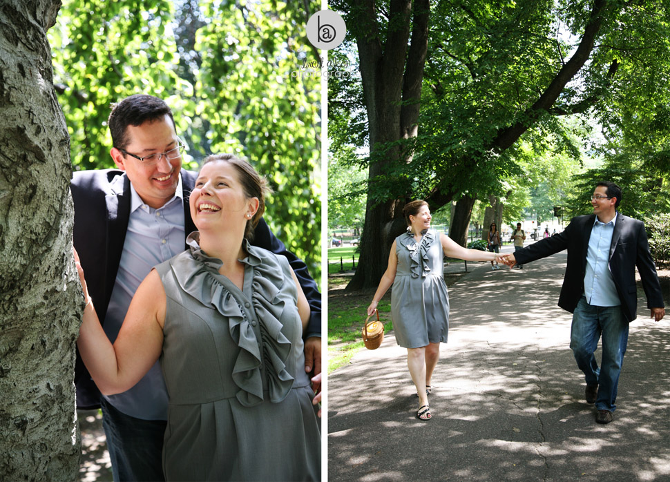 public garden engagement session