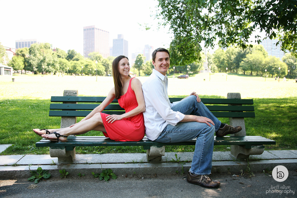 engagement photos boston common