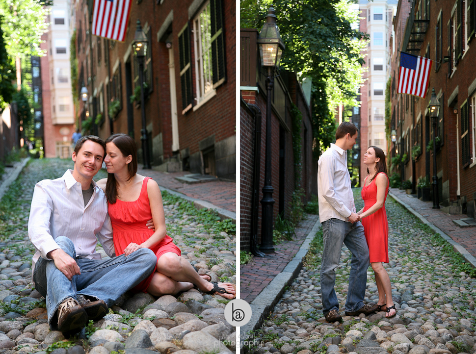 boston cobblestone street engagement