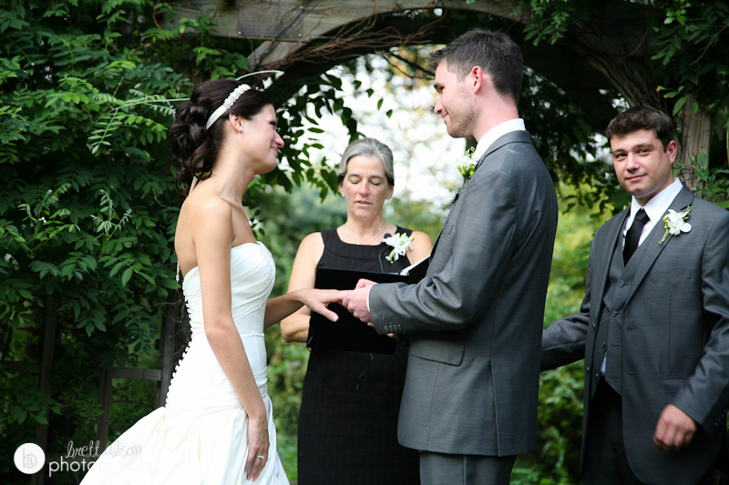 ceremony at brooksby farms