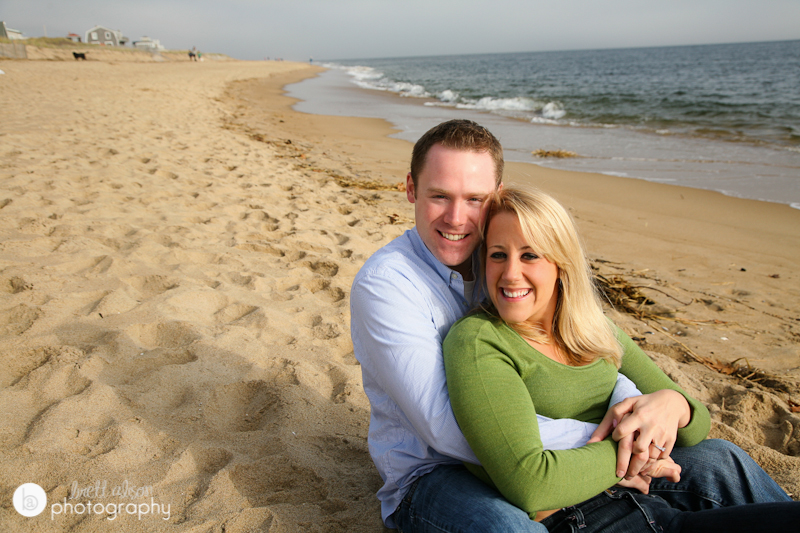 beach engagement session north of boston