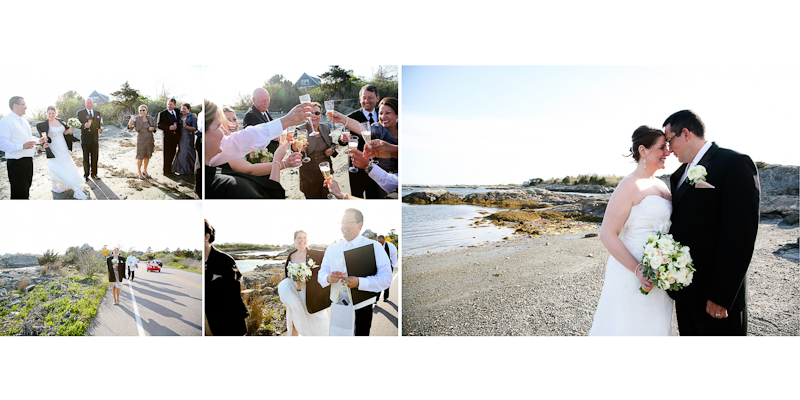 beach wedding photos ri