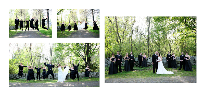 pictures of a wedding at glen magna danvers