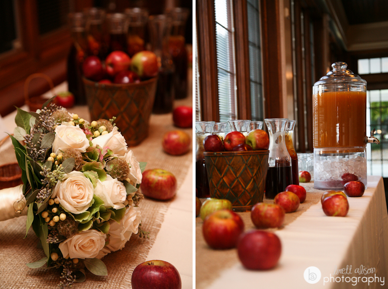 apple cider bar at wedding
