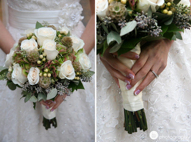 white roses elegant wedding bouquet