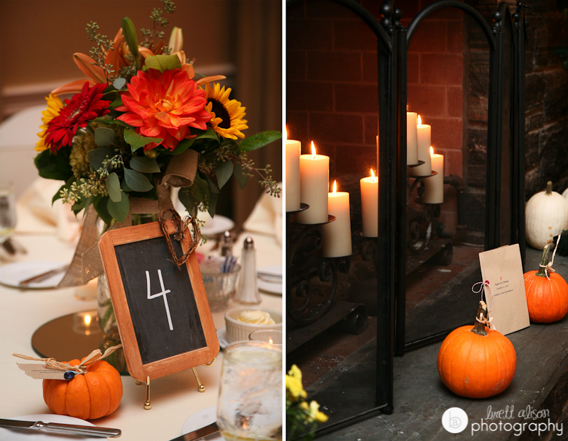 fall rustic wedding details