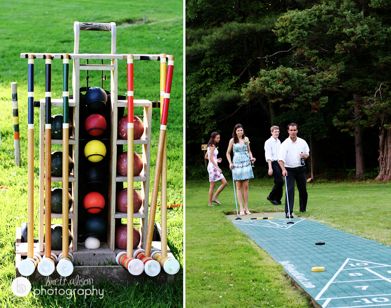 croquet and games at wedding