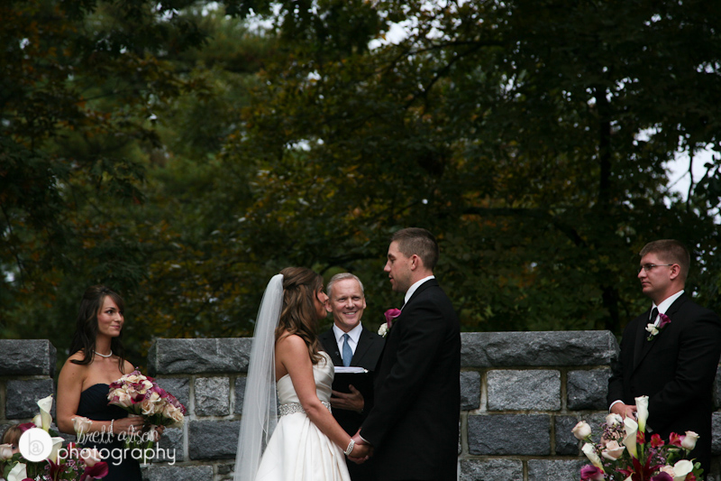 outdoor fall searles castle wedding