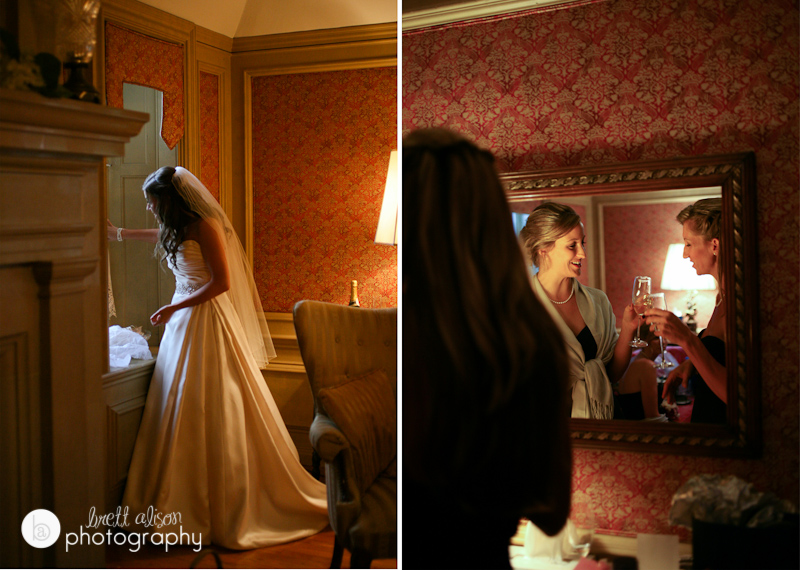 getting ready room bridal suite castle nh