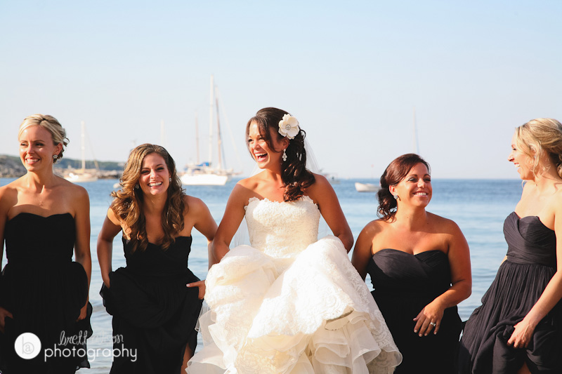 bridesmaids wedding photos cape ann