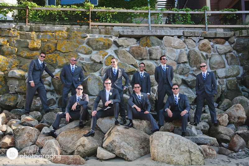 groomsmen photos on beach rockport