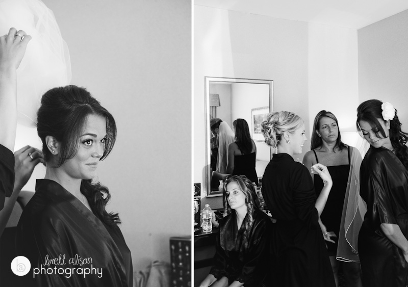 bride getting ready rockport inn