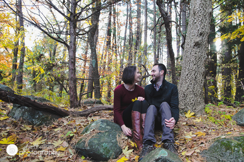 forest natural wedding engagement photos massachusetts