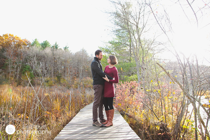 nature engagement session massachusetts