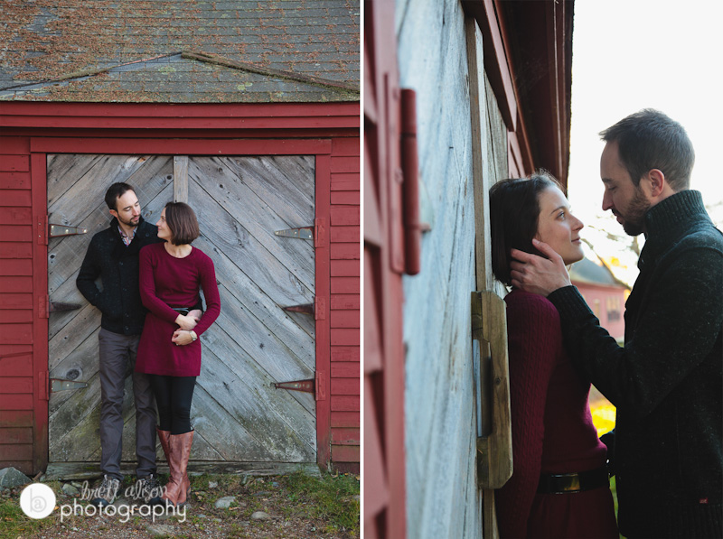 barn engagement session massachusetts photos