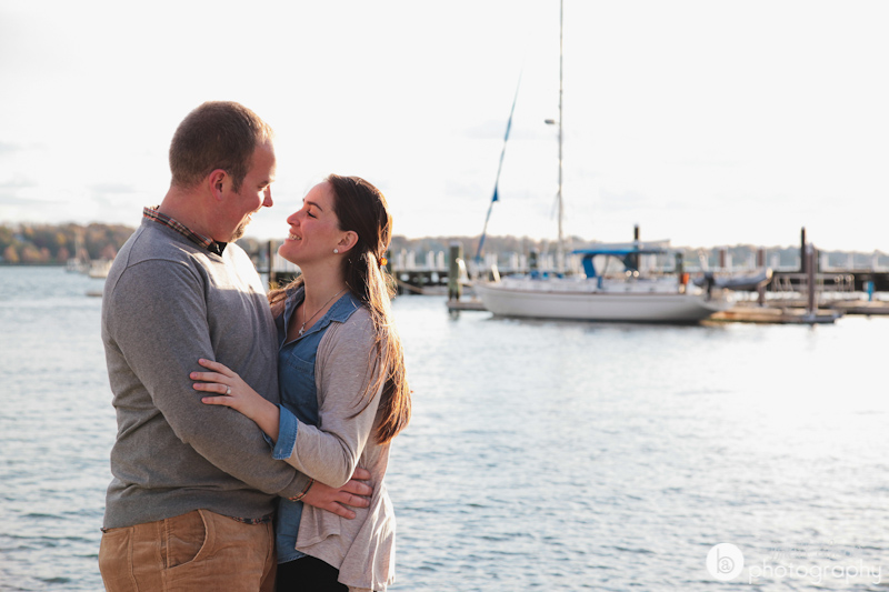 engagement photos on the water newport