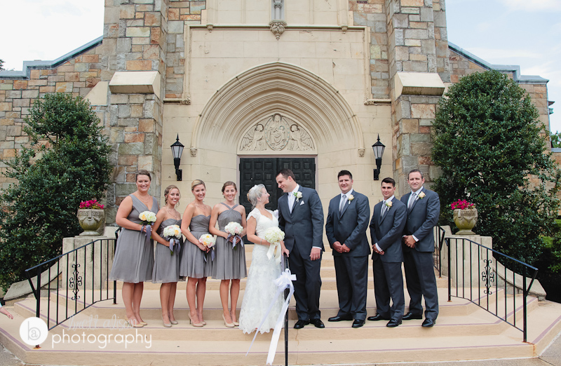 wedding photos outside of saint agatha's church milton