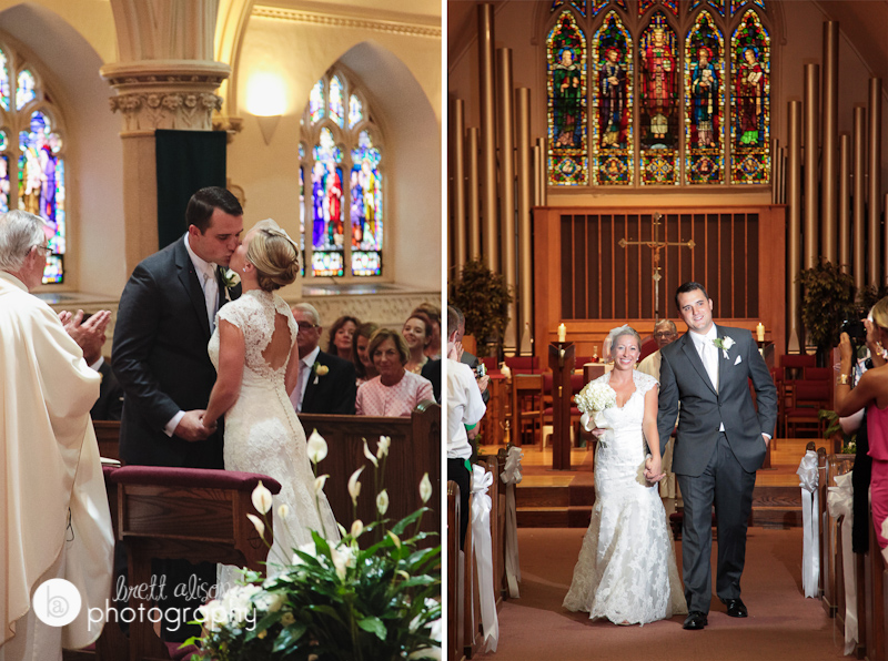 wedding at saint agatha's church in milton
